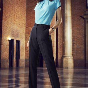 BIZ 10722 Elastic waist back slimline pant